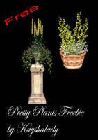 Pretty Plants PNG freebie by kayshalady