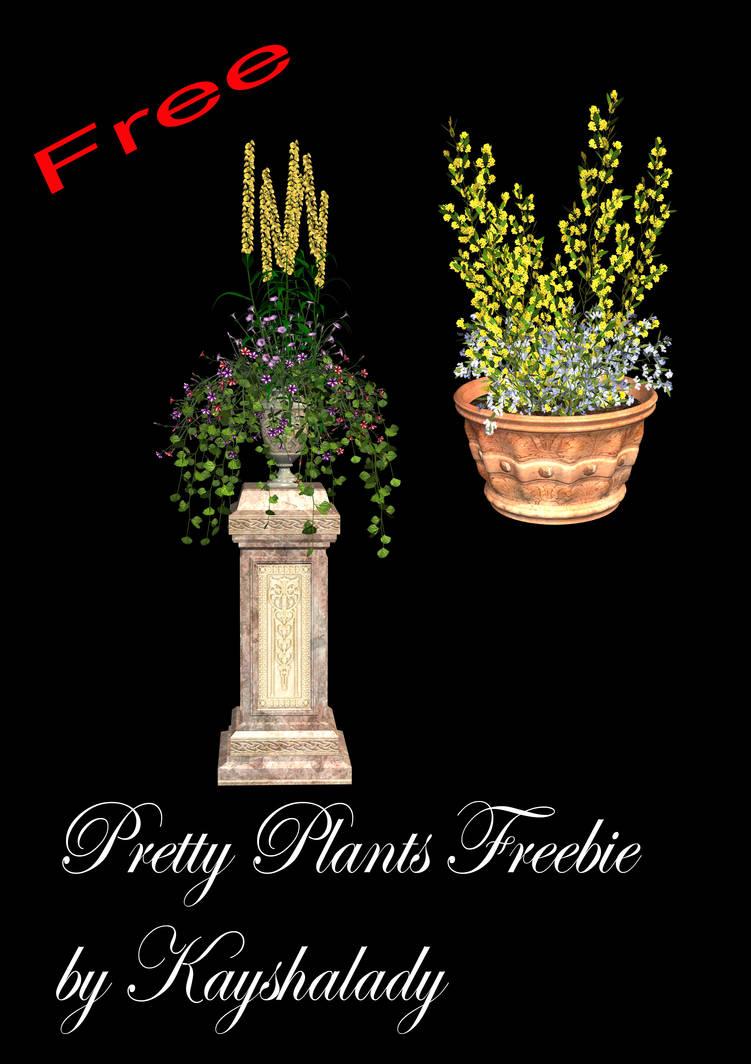 Pretty Plants PNG freebie by kayshalady