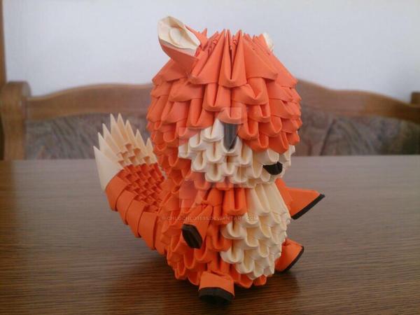 3d origami fox by chlochlo1895 on deviantart origami demon diagram 3d origami fox diagram
