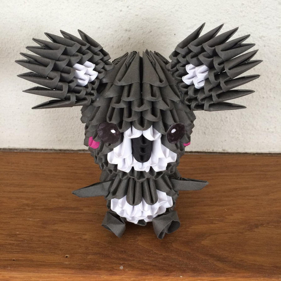 Koala 3d origami by chlochlo1895 on deviantart koala 3d origami by chlochlo1895 jeuxipadfo Image collections
