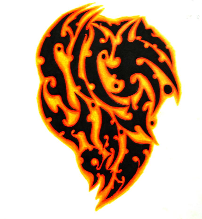Maori Tattoo Designs Wallpaper: Colored Maori Tribal Tattoo By SorenTalon On DeviantArt