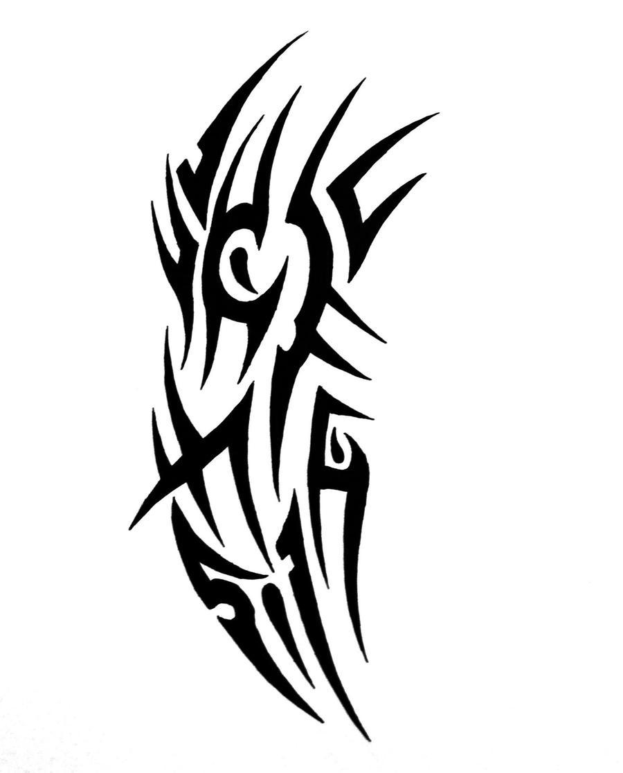tribal sleeve tattoo3 by sorentalon on deviantart. Black Bedroom Furniture Sets. Home Design Ideas