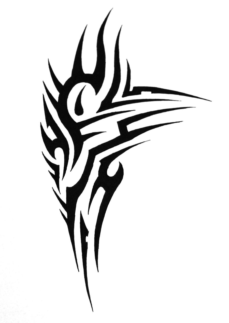tribal shoulder tattoo5 by sorentalon on deviantart. Black Bedroom Furniture Sets. Home Design Ideas
