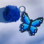 Blue Butterfly Key Chain by illuminatedpearl