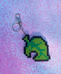 Animal Crossing Leaf Key Chain by illuminatedpearl