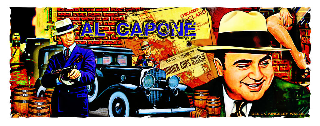 Al Capone Art By Kingsley Wallis