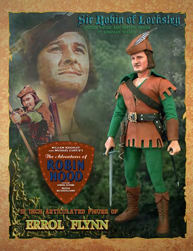 Errol Flynn as Robin Hood Doll by kingsley-wallis