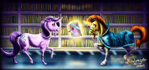 Late Night Visit at the Library by amalgamzaku