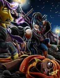Dandy fighter by amalgamzaku