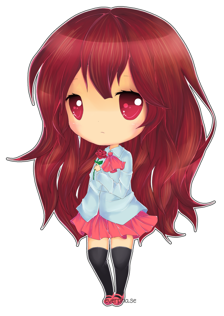 :chibi: IB Line art coloured by Yeleena