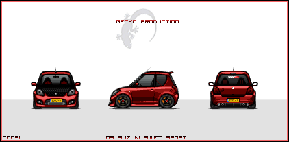 Suzuki Swift Sport Pixelcar by EC-designs
