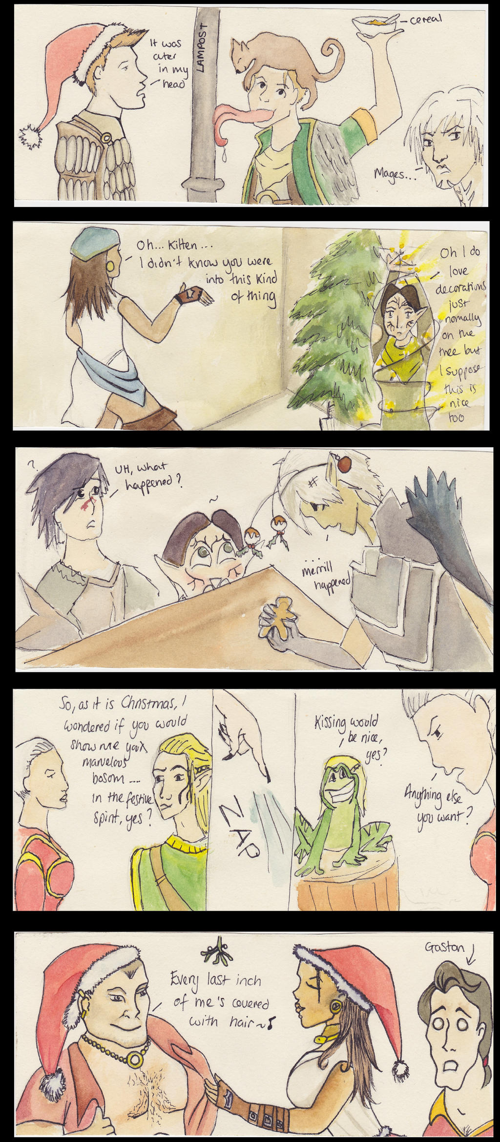 A very merry Dragon Age Christmas 1 by ladyspuds on DeviantArt