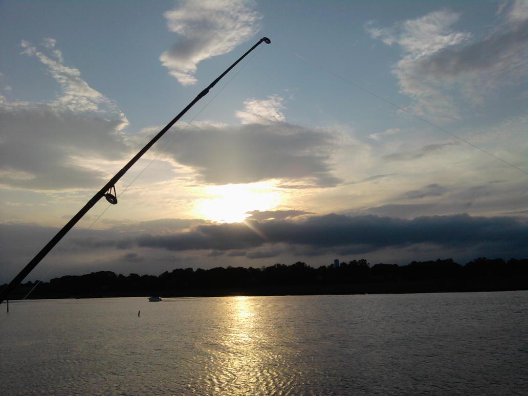 Fishing at keyport nj by badwolfart on deviantart for Nj fishing permit