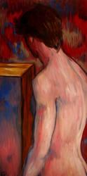 mlody mezczyzna przy lustrze by David16a