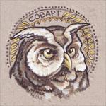 Eagle owl portrait by Lyth