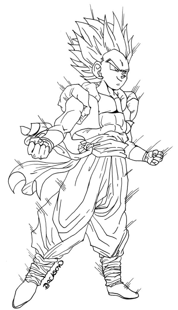 gotenks coloring pages - photo#29