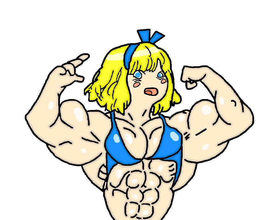 Bodybuilder alice by typerain coloured by mud666 on deviantart - Cartoon body builder ...