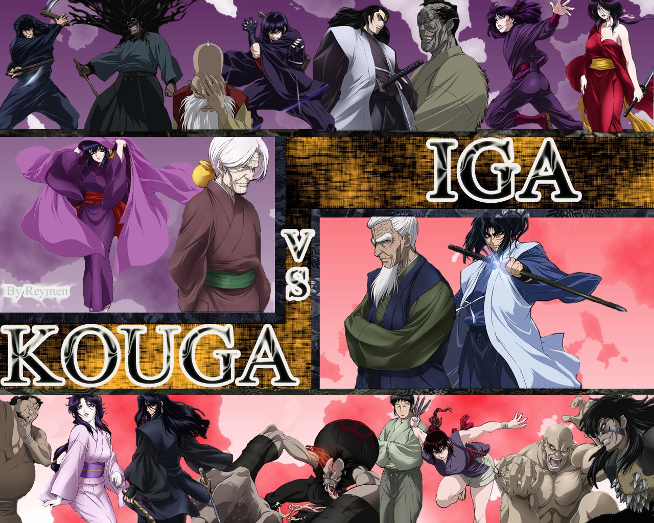 Basilisk Anime: Kouga vs Iga