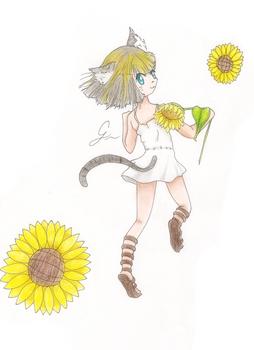 Sunflower Neko