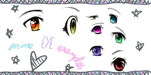 Anime eye examples