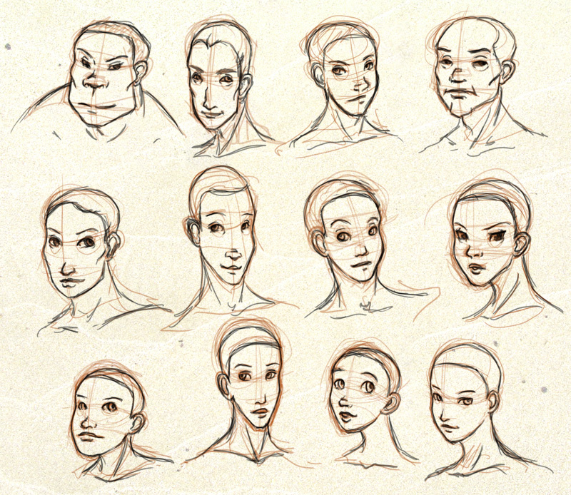 Character Design Face Shapes : Face shapes by ixisstar on deviantart
