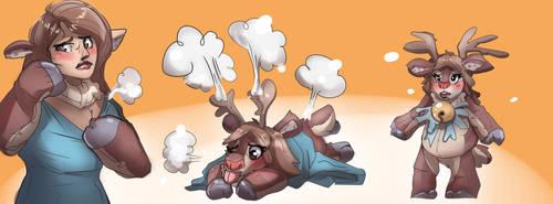 Deer plush tf