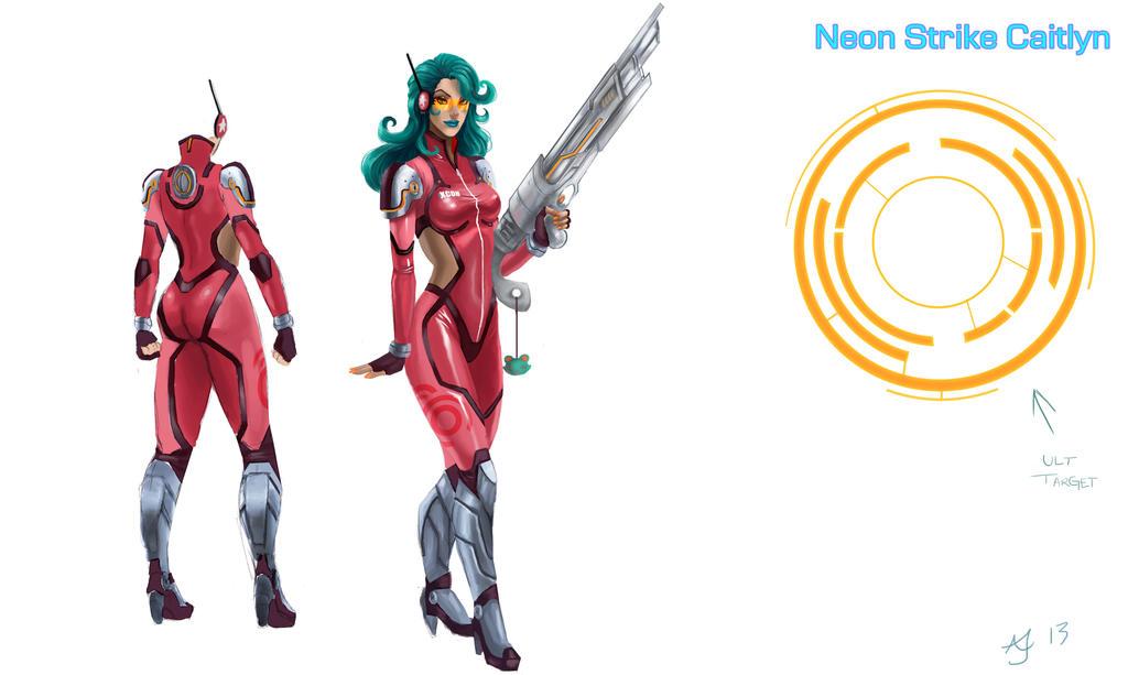 Neon Strike Caitlyn Concept by Xelandra