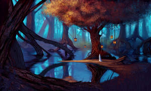 Elven Enclave by Xelandra