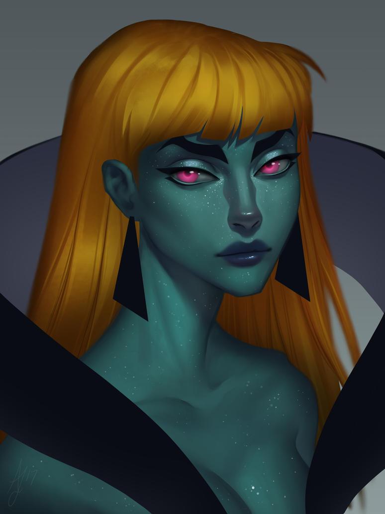 Alien Babe by Xelandra