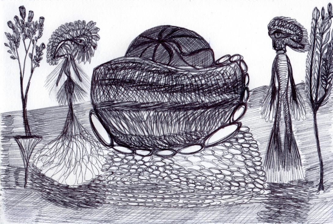Alien couple doodle by JohannaBlau