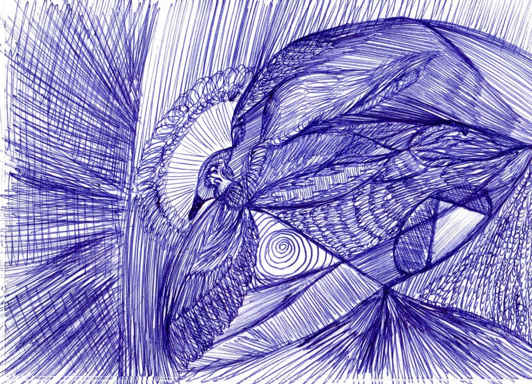 Dove Doodle by JohannaBlau