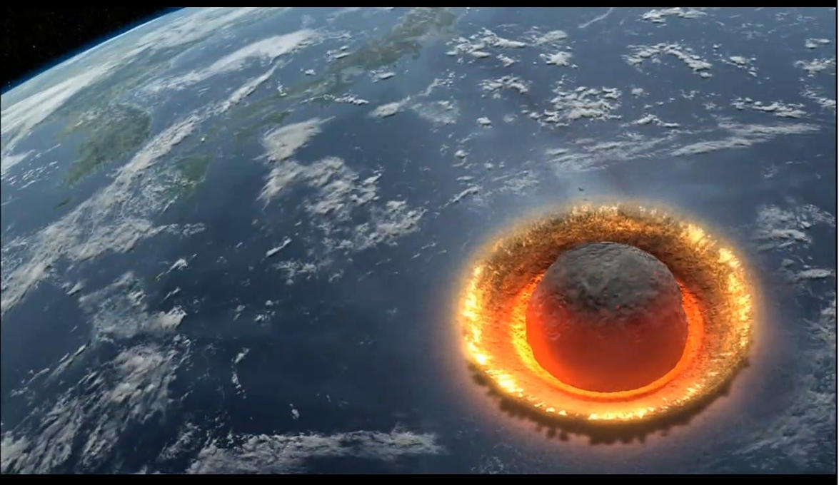 meteoroids and asteroids hitting earth - photo #1