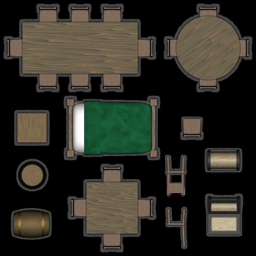 Round Bed Furniture Set