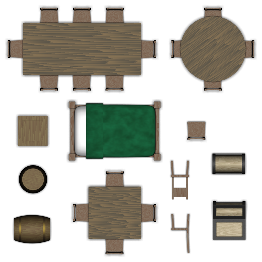 Dungeon Furniture Set By Pfunked On Deviantart