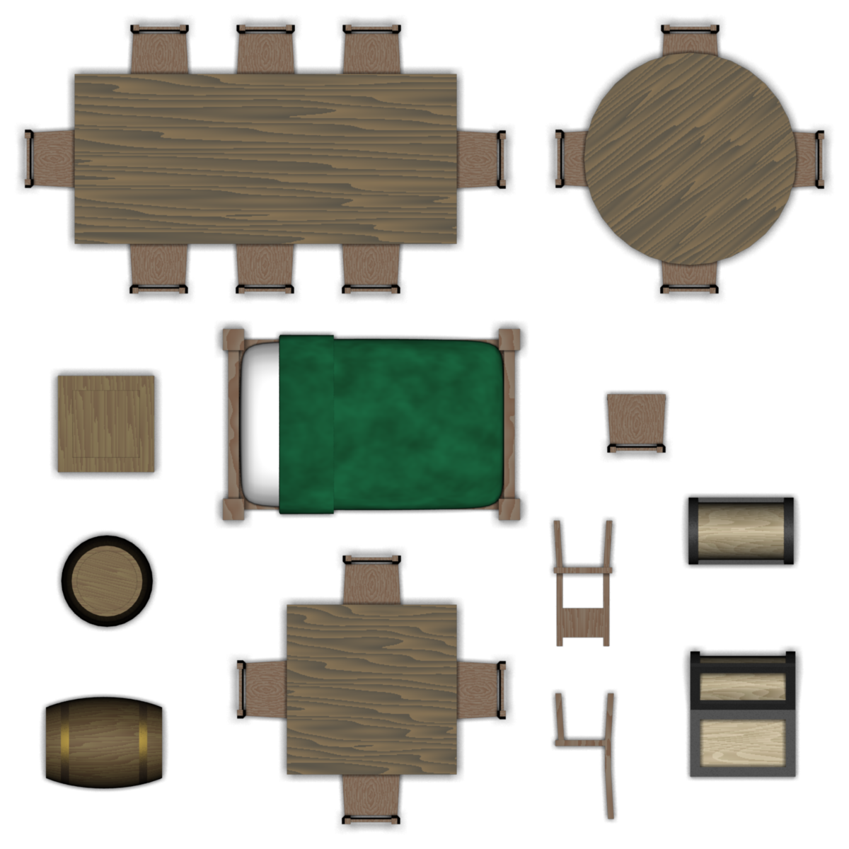 Download chair png images transparent gallery - Dungeon Furniture Set By Pfunked On Deviantart