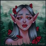 Red butterflies by RinaRinara