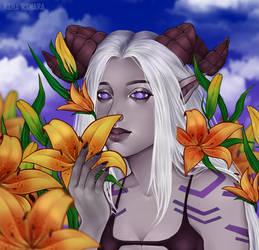Portrait: Lilies (Commission YCH)