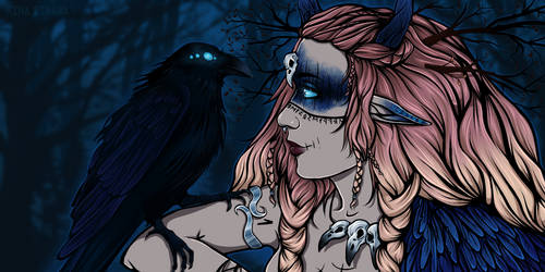 The Raven Sister (Commission YCH)