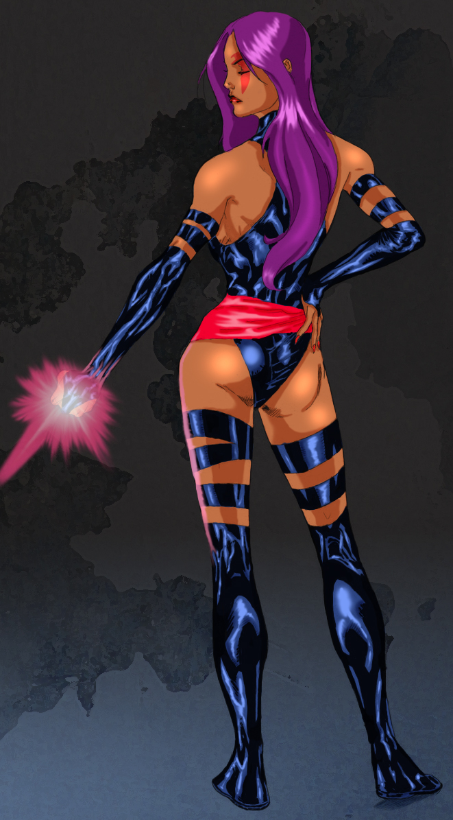Psylocke by Spiderguile-colors by Ederoi