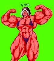 Matls Rogue Posing 2 (RedSheHulk Colored Resized) by ChromaSplicer