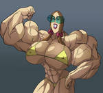 Muscle Gretchen Readdyheart, Color luigisjuy2, BIG