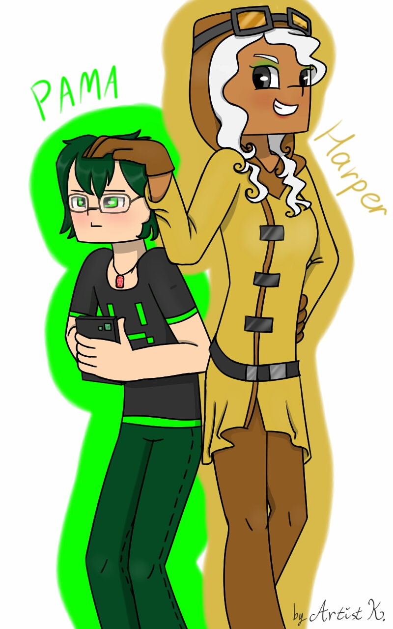 Mcsm Harper And Personified Pama By Artistkamie On Deviantart