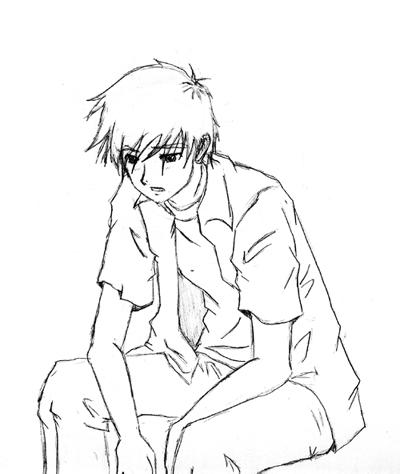 Boy And Girl Love Sketch Wallpaper : Sad Boy by hezakiah on DeviantArt