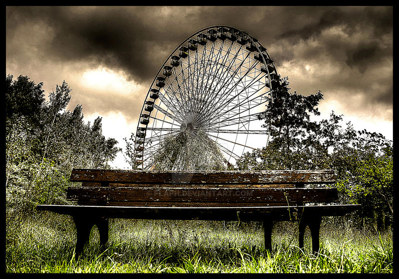 Bench and ferris by flaph