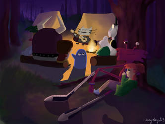 Imaginary Friends go camping by mayday213