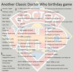Another Classic Doctor Who birthday game