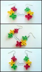 Paper Quilling Earrings 10 by smreko