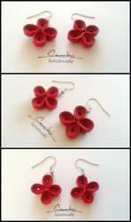 Paper Quilling Earrings 13 by smreko