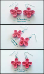 Paper Quilling Earrings 15 by smreko