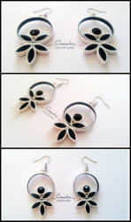 Paper Quilling Earrings 17 by smreko